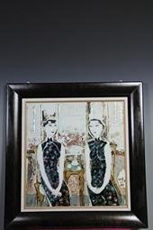 """【操霞作品】""""姐妹""""瓷板"""