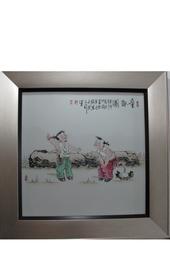 【喻明福作品】童趣图瓷板