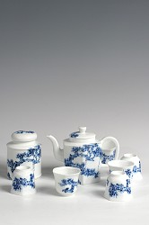【玉柏茶具】六方壶松茶具