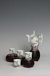 【珐琅彩】五头高壶茶具