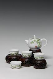 【珐琅彩】五头竹子茶具