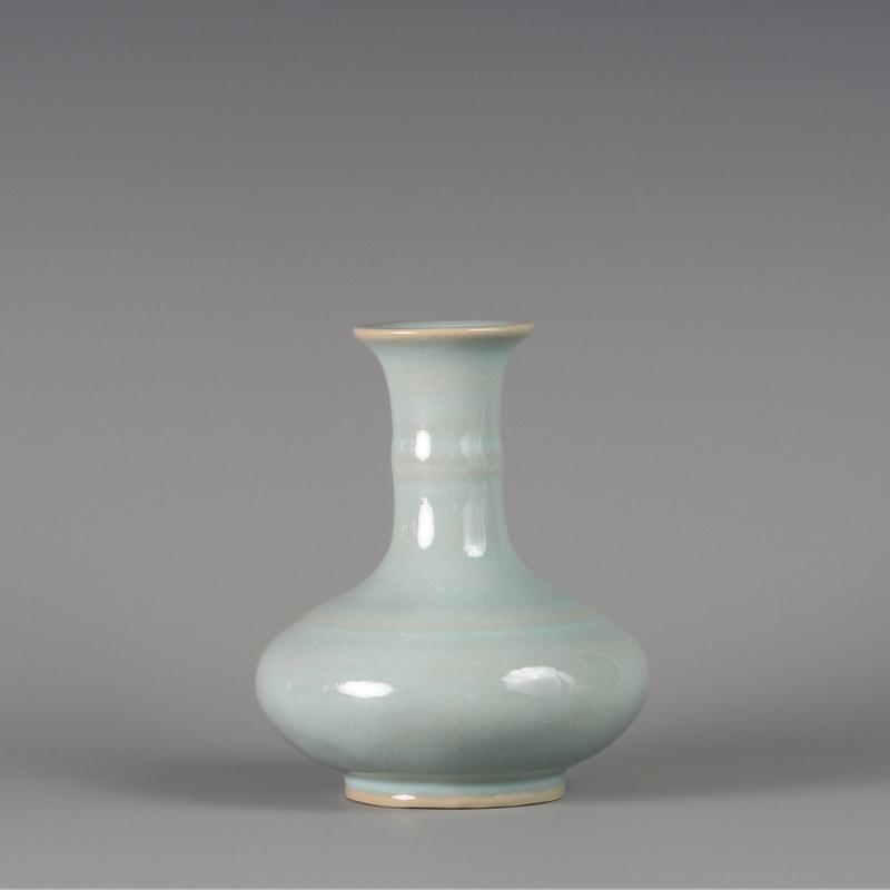 【朱文立汝瓷作品】竹节瓶