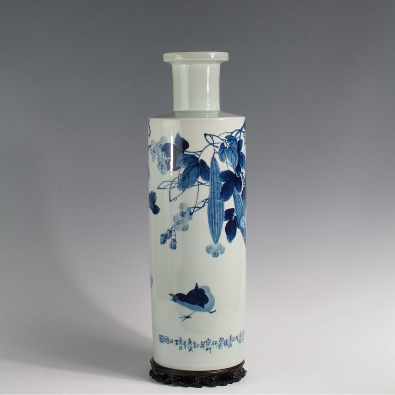 【傅国胜作品】青花硕果瓶