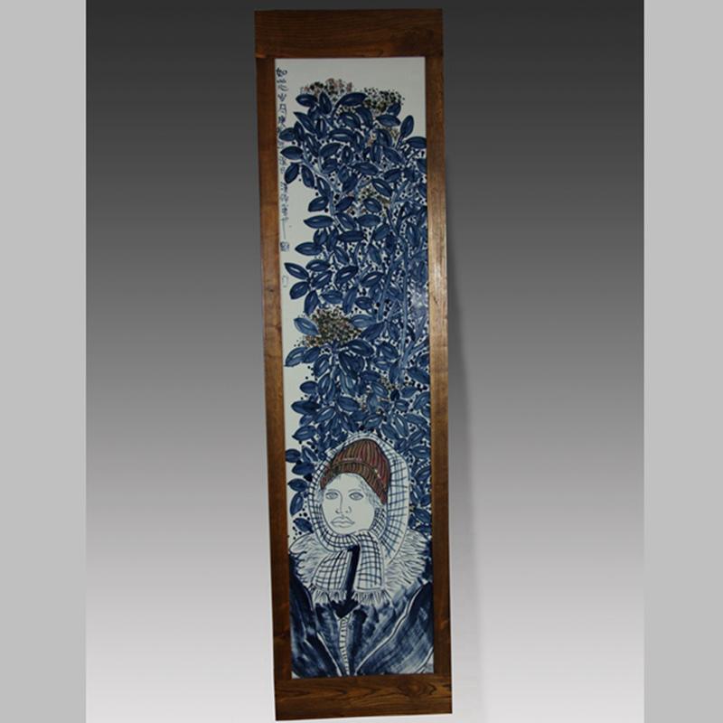 """【汉俑作品】""""如花岁月""""瓷板"""