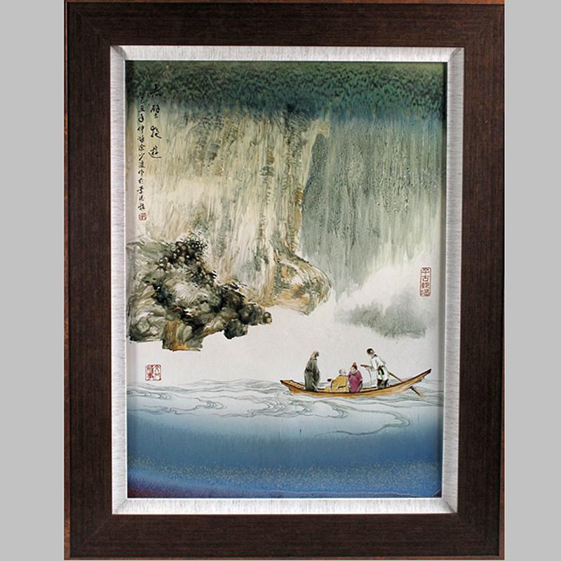 【涂少波作品】赤壁夜游瓷板