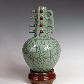 【朝兴苑】哥窑琴瓶