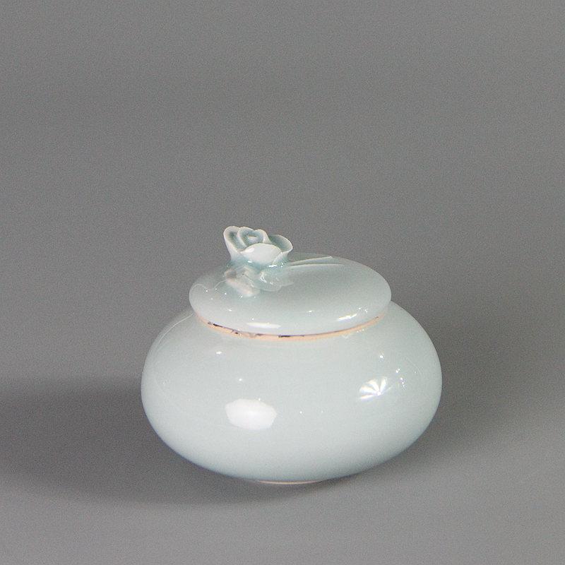 【雷慧仙作品】 粉青茶叶罐