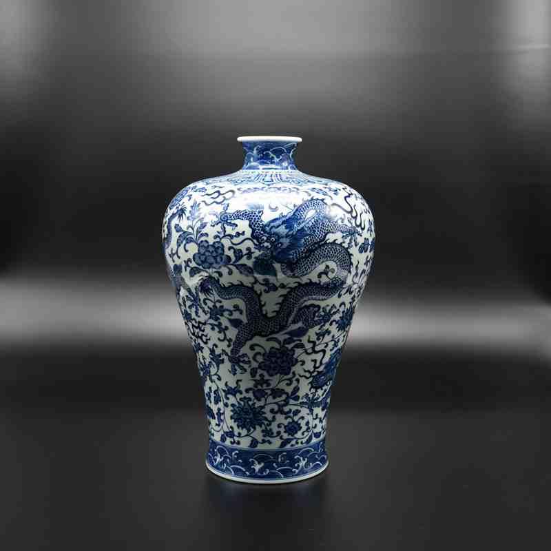 【罗老三作品】150件青花缠枝龙纹梅瓶