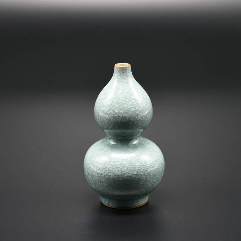 【叶小春作品】冰裂纹葫芦瓶