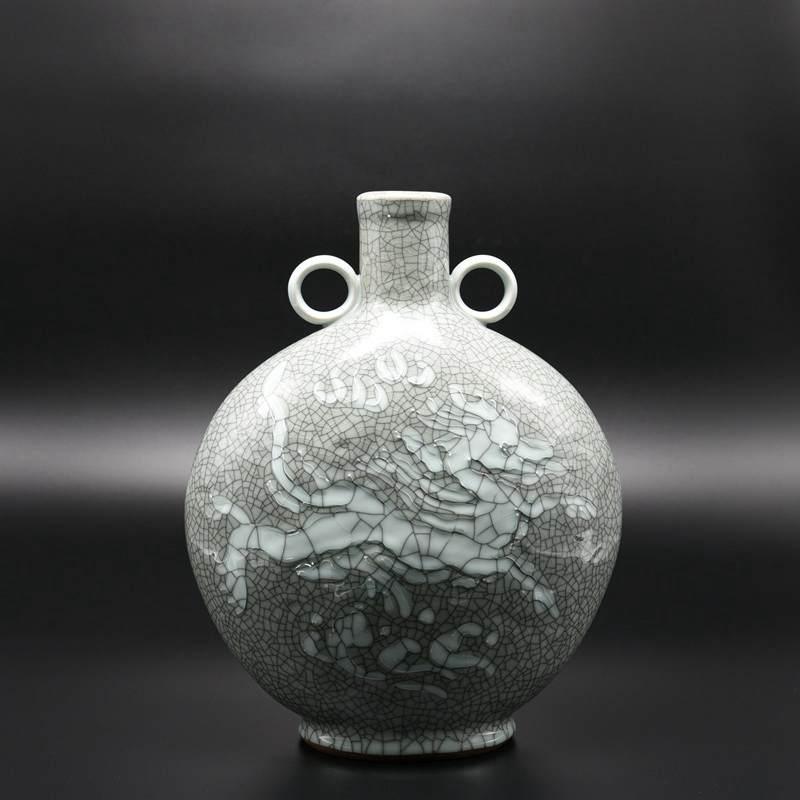 【夏侯文作品】麒麟双环瓶