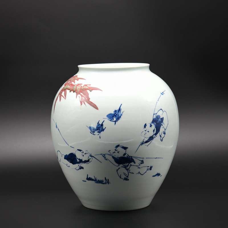 【熊国辉作品】150件青花釉里红童乐图
